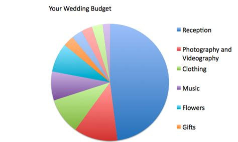 Wedding Budget Pie Chart by The Center B Is For Budget