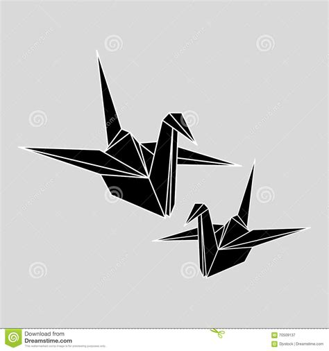 Origami Concept - flat illustration of origami design stock vector image