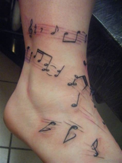 music note tattoos designs 33 notes tattoos on ankle