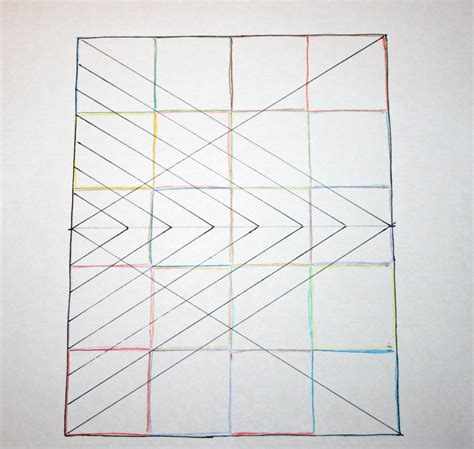 diamond pattern drawing fitf big diamond little diamond a straight line