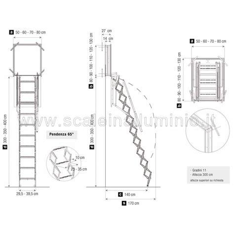 scale x soffitte scale retrattili per soffitte e sottotetti a parete 50 x 80