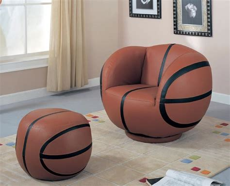 basketball chair and ottoman football swivel chair and ottoman set