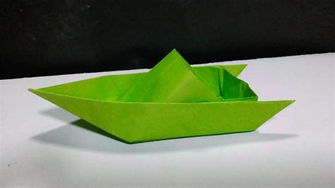 how to make a paper speed boat that floats in water how to make a cool paper speed boat youtube