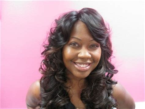 picturez of wavy hair with invisible part full head weave invisible part silk hair studio gallery