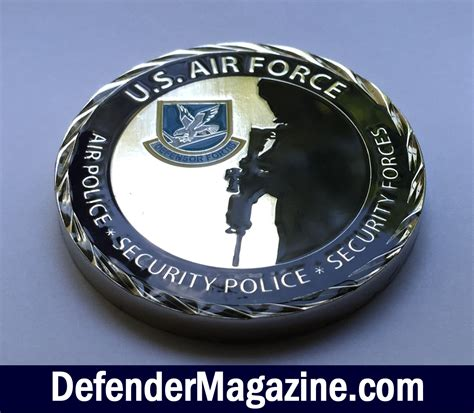 air challenge coin u s air security forces challenge coin defender
