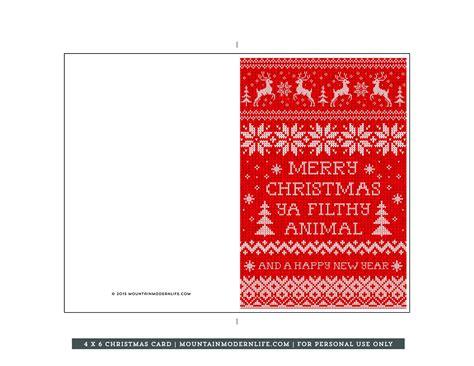 printable christmas card mountainmodernlifecom