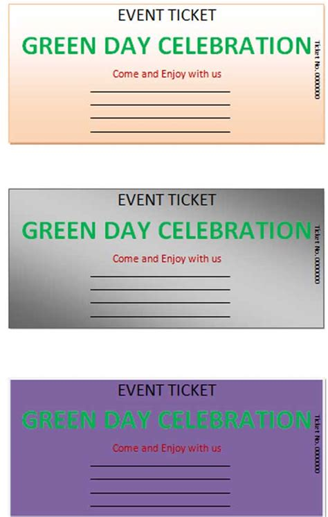 event ticket template microsoft word templates