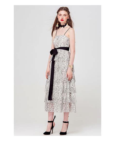 Tiered Spaghetti Dress spaghetti floral print tiered dress gemgrace