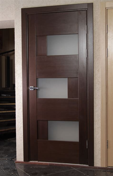 Contemporary Interior Wood Doors Dominika Contemporary Interior Door With Glass