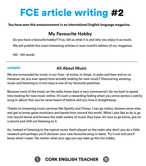 FCE Exam Writing Samples and Essay Examples