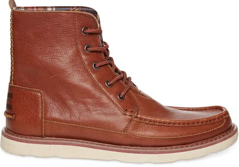 toms brown leather s searcher boots in brown for