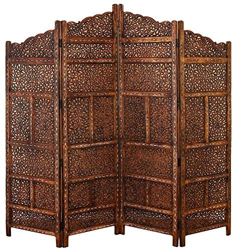 Carved Wood Room Divider Limited Edition Antique Carved Wood Room Divider 4panel