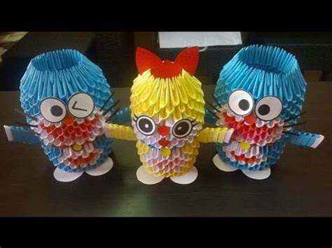 cara membuat origami doraemon 3d doraemon in origami 3d youtube