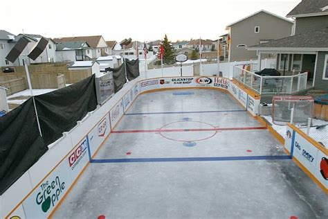 rink for backyard backyard rinks build a home rink and bring on the hockey