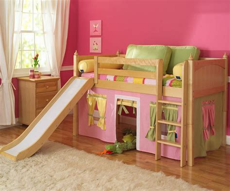 girl twin loft bed with slide maxtrix furniture kids twin and full low loft bed beds