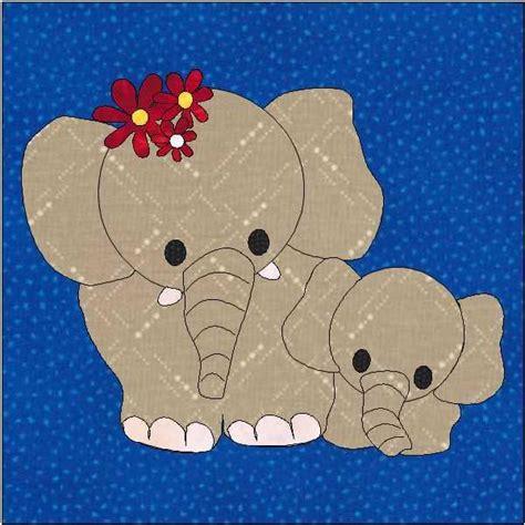 Elephant Applique Quilt Pattern by Elephant Applique Block Quilt Pattern By Quiltingbyjacqu