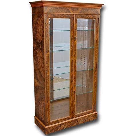 Cabinet Door Display Reproduction Georgian Two Door Display Cabinet In Yew Mahogany Oak And Bespoke