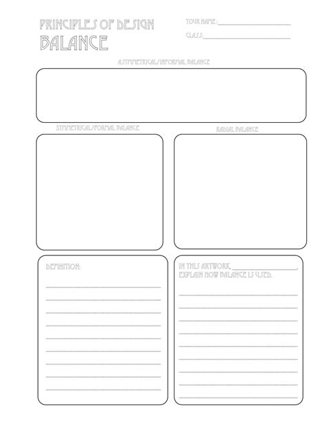 layout worksheet the smartteacher resource balance handout