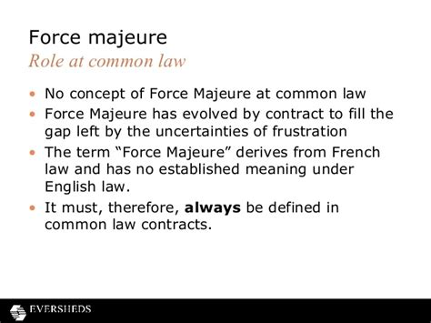 majeure clause template frustration of contracts and majeure clauses