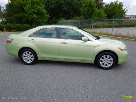 Toyota Camry Green Color Jasper Green Pearl 2007 Toyota Camry Hybrid Exterior Photo