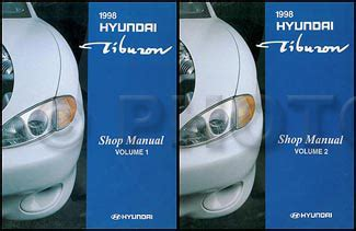 book repair manual 1998 hyundai tiburon auto manual 1998 hyundai tiburon repair shop manual set 98 fx original oem