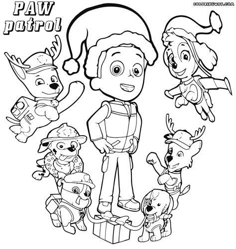 paw patrol winter coloring pages paw patrol coloring pages coloring pages to download and