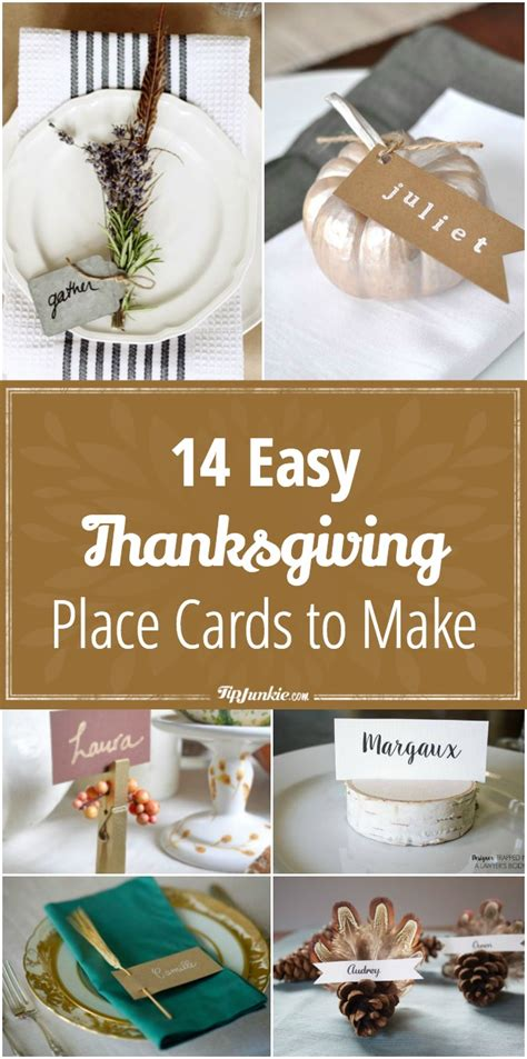 thanksgiving place cards for to make 14 thanksgiving easy place cards to make tip junkie