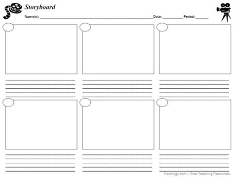 script storyboard template blank table chart