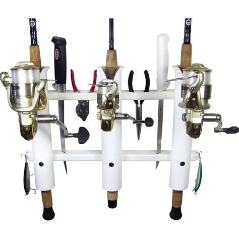 Boat Rod Racks by 3 Rod Deluxe Fishing Rod Holder Rack White Boat Outfitters