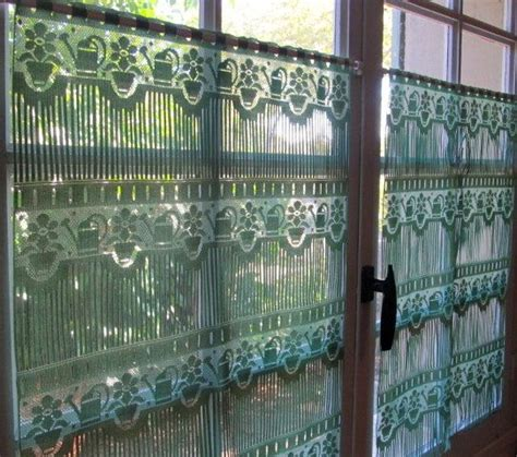 green lace curtains green lace curtains french lace curtains green watering