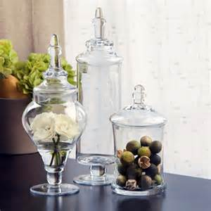 what to put in kitchen canisters apothecary jars set of 3 eclectic bathroom canisters