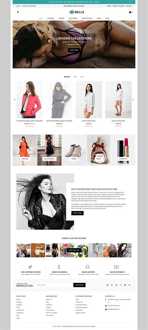 themes for clothing collection best shopify premium themes collection for lingerie store