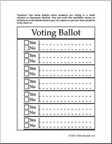 student council ballot template form ballot for mock election abcteach