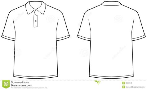 Polo Shirt Template Front And Back polo shirt front and back view isolated royalty free
