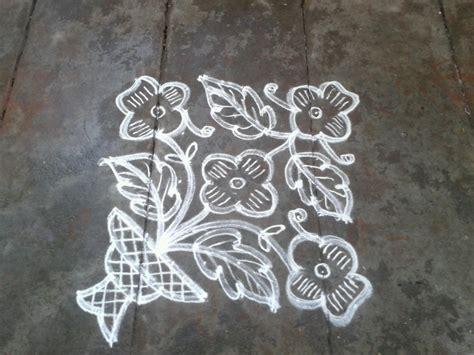 Flower Design Pulli Kolam | rangoli designs kolam 9 pulli 9 varisai flower kolam
