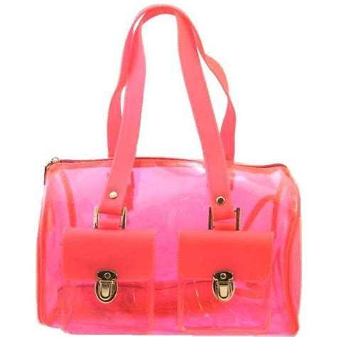 Jelly Clear Buy 1 Get 1 clear jelly boston bag pink polyvore