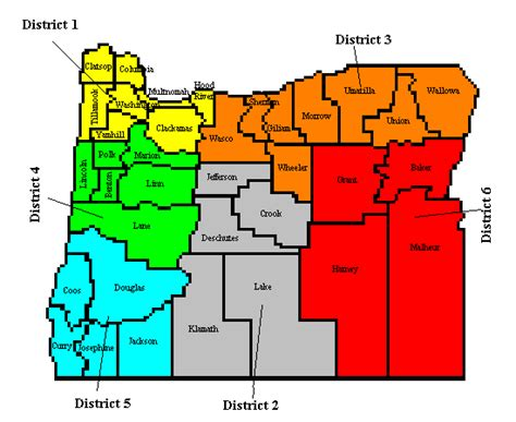 map of oregon districts oregon ares district 5