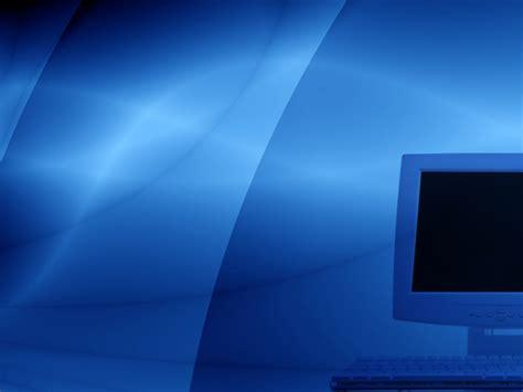powerpoint design computer monitor on blue powerpoint templates aqua cyan black
