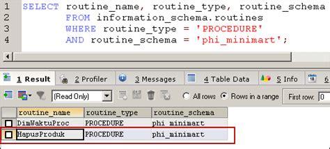 membuat query di mysql membuat stored procedure di mysql mysql tutorial bahasa