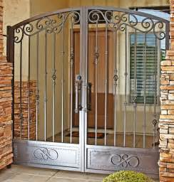 security gate for front door tradtional iron gate by impression security doors