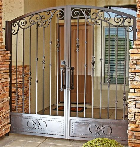 tradtional iron gate by impression security doors traditional home fencing and gates