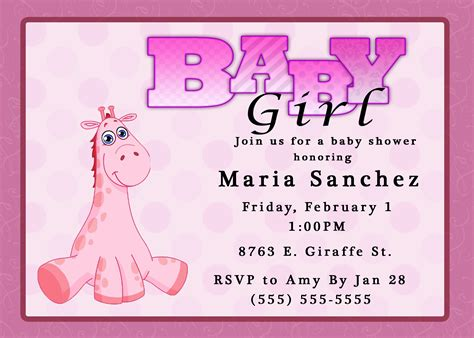Giraffe girl baby shower giraffe girl baby shower