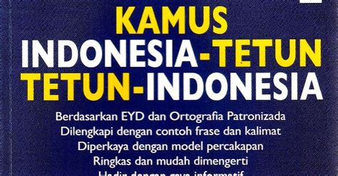 Original Buku Kamus Portugis Indonesia Indonesia Portugis kamus indonesia tetun tetun indonesia daon lontar