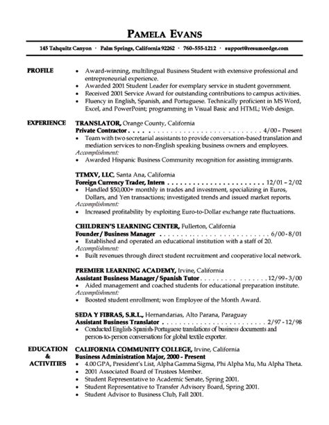resume objective exles analyst entry level business analyst resume sles objective statement and resume template