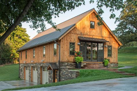 Garage With Loft Designs sand creek post and beam exterior rustic with gooseneck