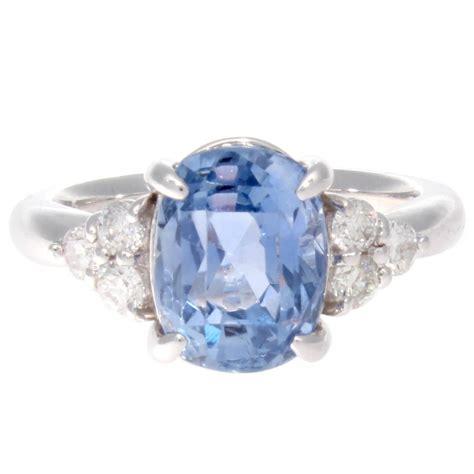 Blue Sapphire Ceylon Set In Ring 4 48 ceylon sapphire platinum ring at 1stdibs