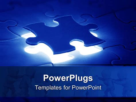 Powerpoint Template A Jigsaw Puzzle With The Missing Powerplugs Templates
