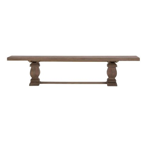 Aldridge Extendable Dining Table Home Decorators Collection Aldridge Extendable 84 In Dining Bench In Antique Walnut 2838500960