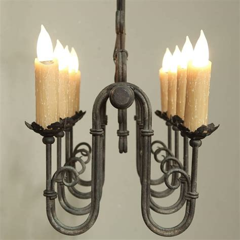 country chandelier country wrought iron chandelier at 1stdibs
