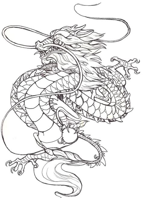chinese dragon clipart outline drawing 3156524